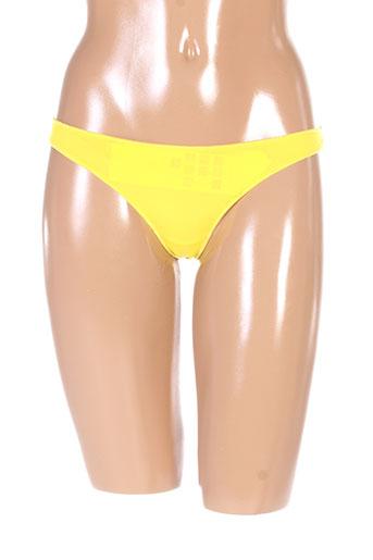 2 et rios strings et tangas femme de couleur jaune