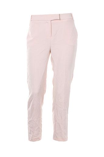 jacqueline et riu pantalons et citadins femme de couleur rose