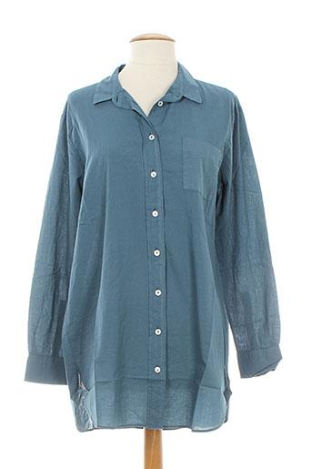 diega chemises femme de couleur bleu