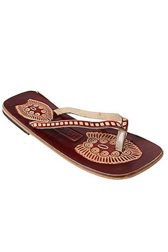 ba&sh chaussures femme de couleur marron