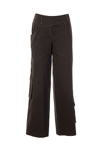 imprevu pantalons femme de couleur marron