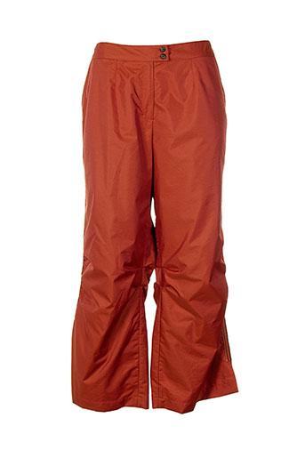 imprevu pantalons femme de couleur orange