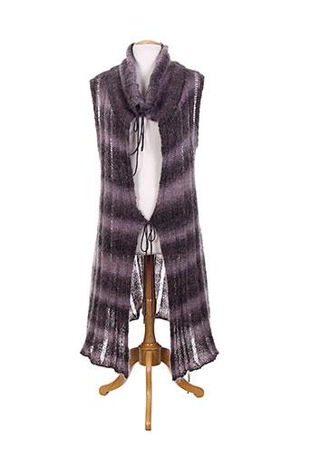 rimini gilets femme de couleur violet