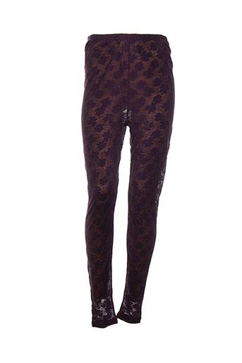 rimini pantalons femme de couleur violet
