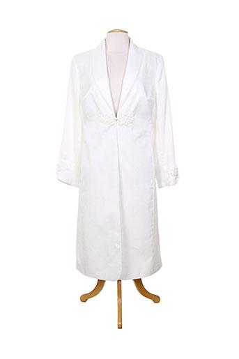 gina bacconi manteaux femme de couleur blanc
