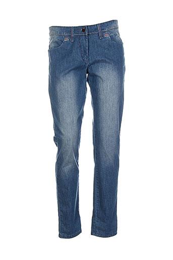 poupee chic jeans femme de couleur bleu
