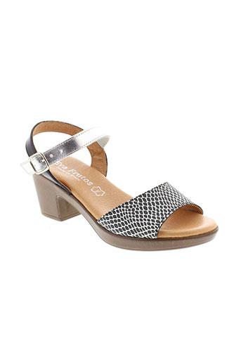 eva et frutos sandales et nu et pieds femme de couleur gris