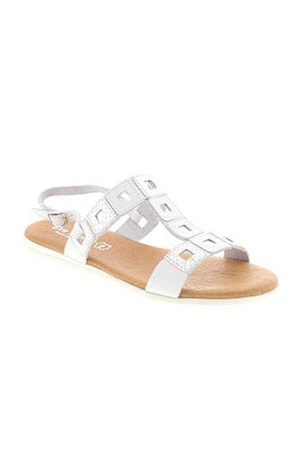 eva et frutos sandales et nu et pieds femme de couleur blanc