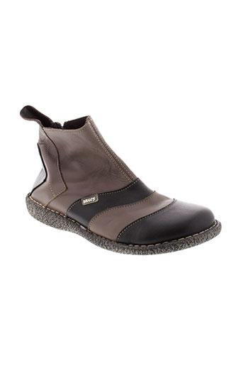 bran et s boots femme de couleur marron