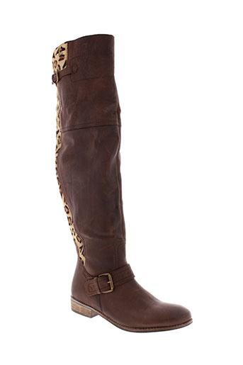best et mountain bottes femme de couleur marron