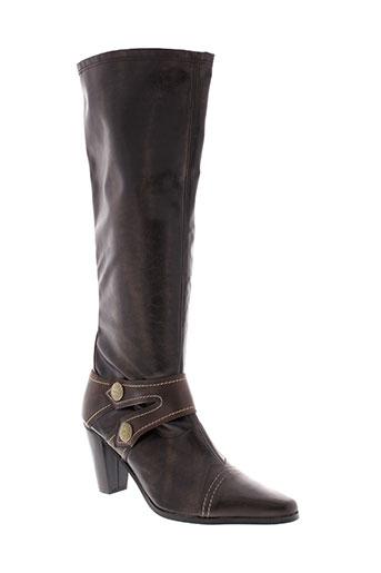 haziel bottes femme de couleur marron