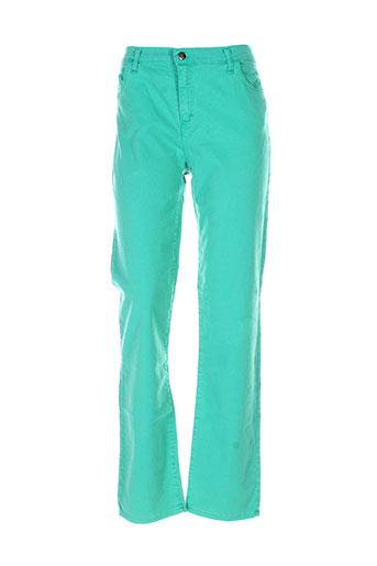 cinoche pantalons femme de couleur vert