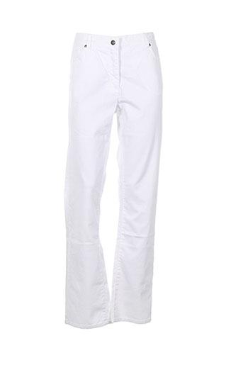 jensen pantalons et decontractes femme de couleur blanc