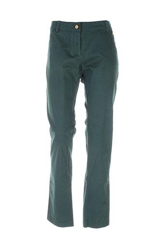mat. pantalons femme de couleur vert