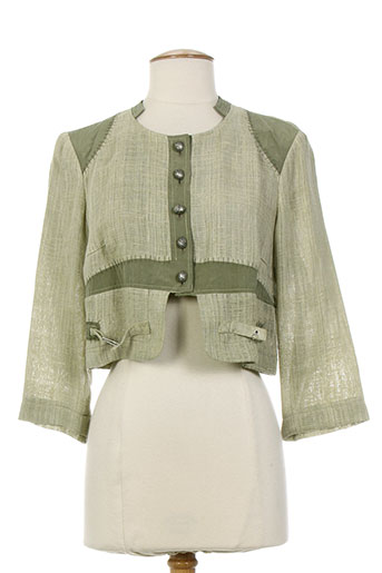 my way vestes femme de couleur vert