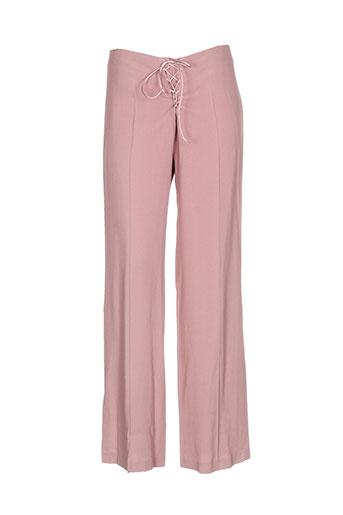 nathalie garcon pantalons femme de couleur rose