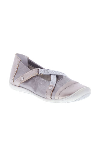 bellamy ballerines fille de couleur gris