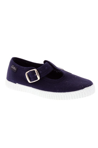 aster chaussures fille de couleur bleu