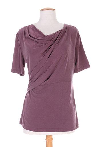fransa chemises femme de couleur violet