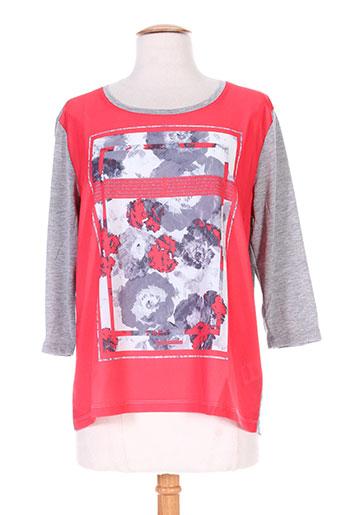 fransa chemises femme de couleur rouge