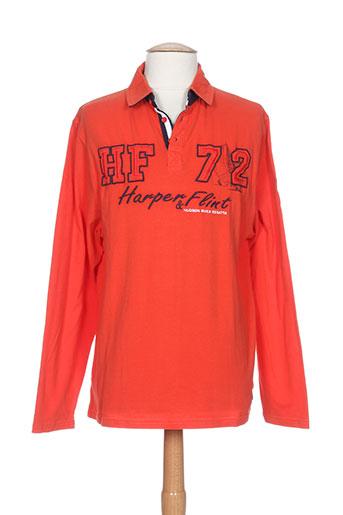 harper&flint t-shirts homme de couleur orange