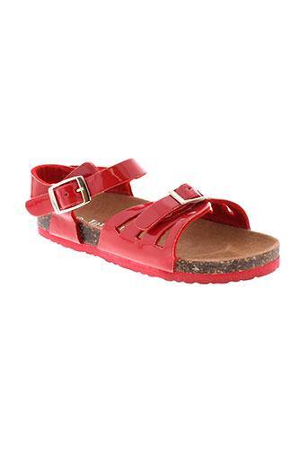 jet et 7 sandales et nu et pieds fille de couleur rouge