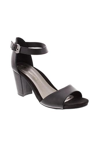 tamaris sandales et nu et pieds femme de couleur noir