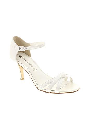 tamaris sandales et nu et pieds femme de couleur blanc