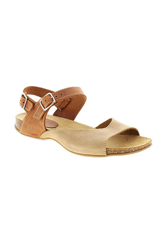inter et bios sandales et nu et pieds femme de couleur beige