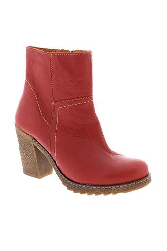 csy boots femme de couleur rouge