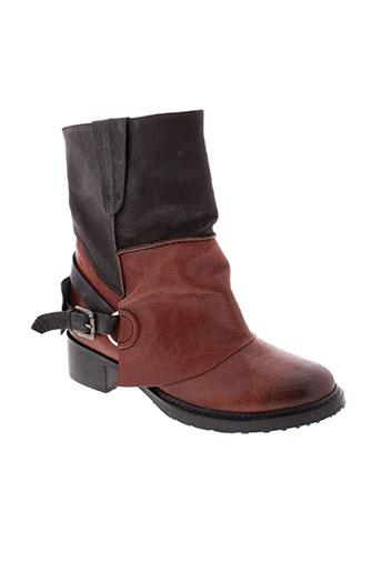 metamorf et ose boots femme de couleur marron