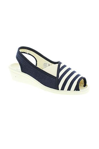 wapiti sandales et nu et pieds femme de couleur bleu
