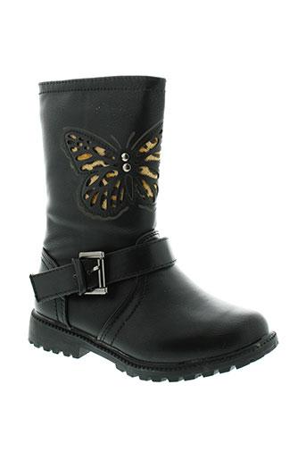 lovely et wings bottes fille de couleur noir