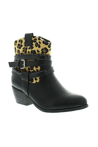 kelara bottines femme de couleur noir