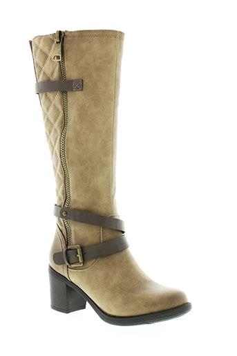 kelara bottes femme de couleur beige