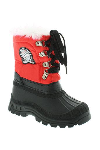 rucanor bottes enfant de couleur rouge