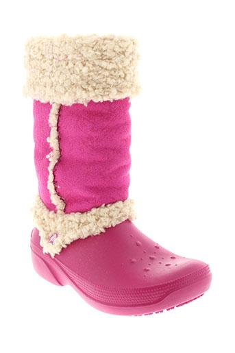 crocs bottes femme de couleur rose