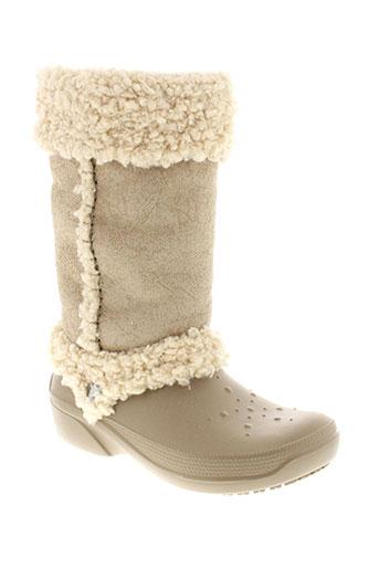 crocs bottes femme de couleur beige