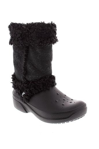 crocs bottes fille de couleur noir