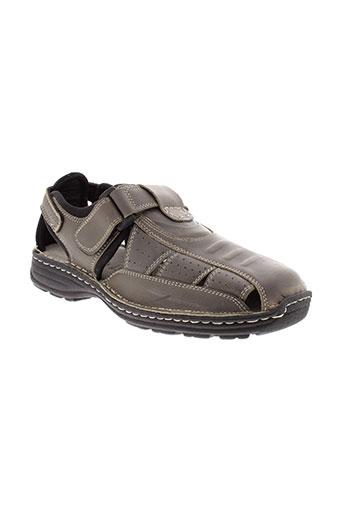 moran et s sandales et nu et pieds homme de couleur gris