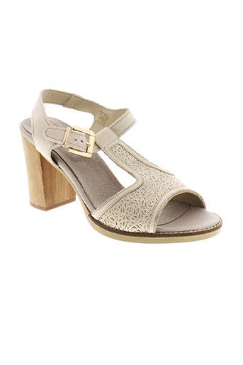 santafe sandales et nu et pieds femme de couleur gris