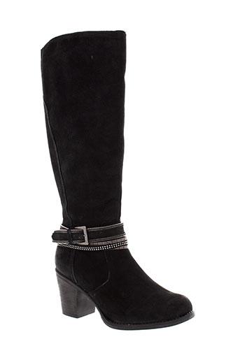 santafe bottes femme de couleur noir