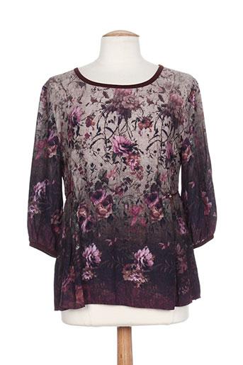glüen chemises femme de couleur violet