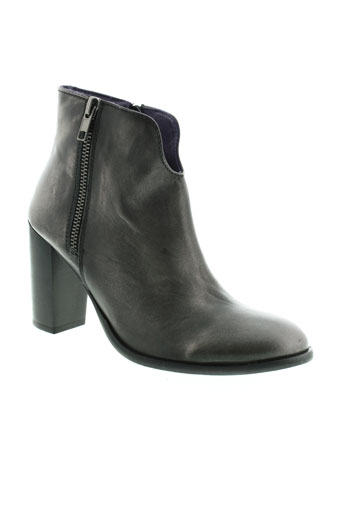 couleur et pourpre boots femme de couleur gris