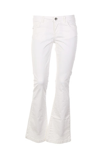 rinascimento pantalons femme de couleur blanc