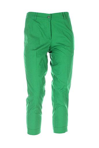 isabel de pedro pantalons femme de couleur vert