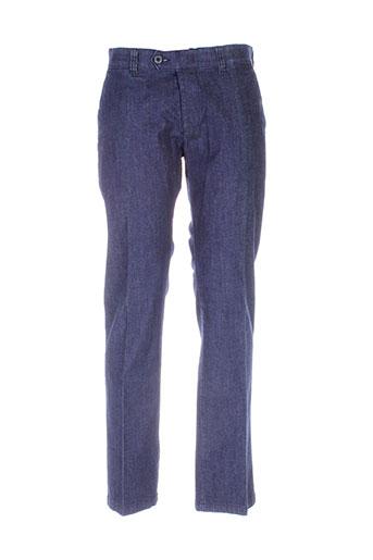 hattric jeans homme de couleur bleu