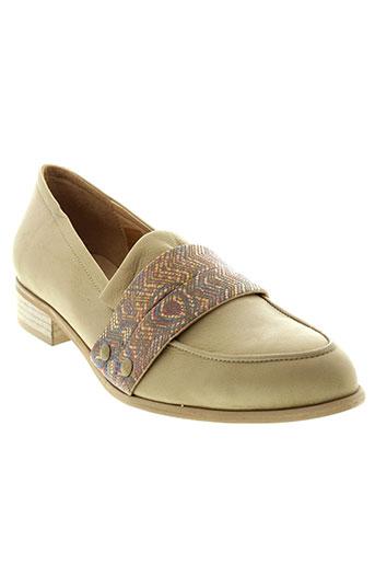 libre comme l'air chaussures femme de couleur beige