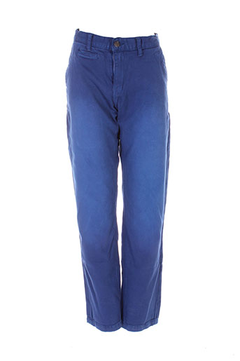 nukutavake pantalons garçon de couleur bleu