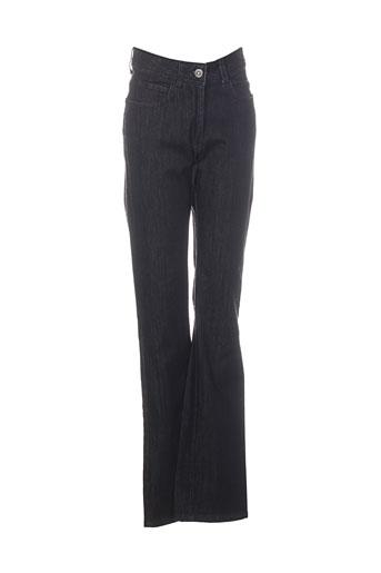 Jeans coupe droite noir CHRISMAS'S pour femme